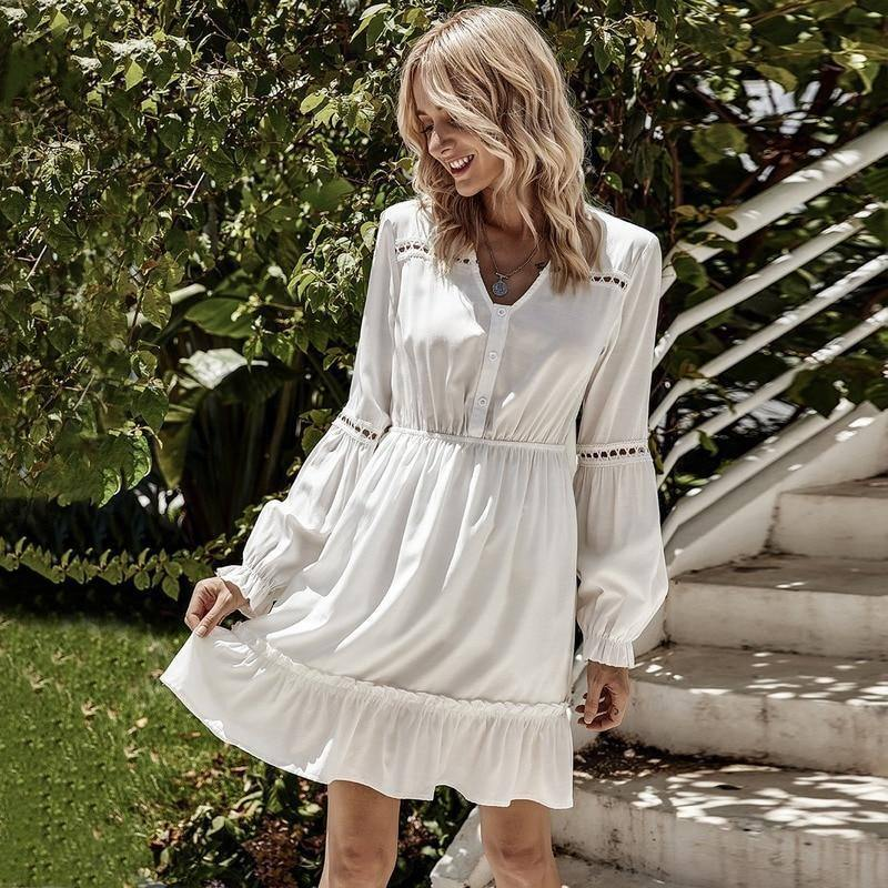 New Spring Autumn Woman Clothes Sexy Dress Lantern sleeve White Long Sleeve Fashion Dresses For Women Fall 2020 Women's Clothing | 2020, Autumn, Clothes, Clothing, Dress, Dresses, Fall, Fashion, For, Lantern, Long, New, Sexy, Sleeve, Spring, White, Woman, Women, Womens | akolzol