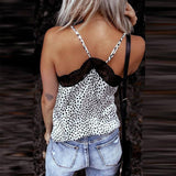 New Summer Tank Top Women Clothes Leopard Sleeveless Suspender Lace Lace Sexy Tops Backless Fashion For Women's Clothing 2021 | 2021, Backless, Clothes, Clothing, Fashion, For, Lace, Leopard, New, Sexy, Sleeveless, Summer, Suspender, Tank, Top, Tops, Women, Womens | akolzol