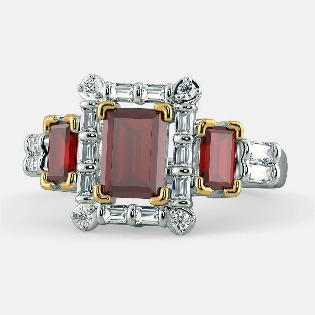 S925 Silver Pure Ruby Ring for Women Red Bizuteria Topaz bijoux femme anillos mujer silver 925 jewelry Gemstone Emerald Ring | akolzol