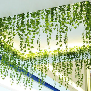 230cm Silk Artificial Lvy Vine Fake Plant Green Leaves Foliage Hanging Garland DIY Home Wedding Garden Decoration | 230, Artificial, cm, Decoration, DIY, Fake, Foliage, Garden, Garland, Green, Hanging, Home, Leaves, Lvy, Plant, Silk, Vine, Wedding | akolzol