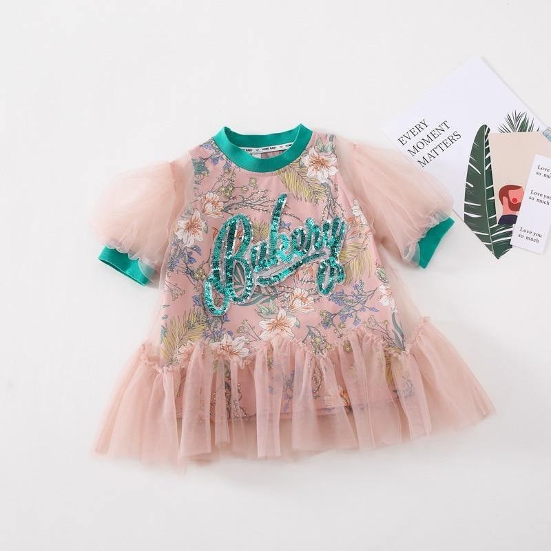 Babyinstar Fashion Dresses for Kids Costume Dress for Princess Party Dress Fashion Girl Ruffle Tutu Baby Clothing for Children | akolzol