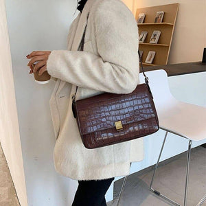 Vintage Crocodile Pattern Shoulder Bags for Women Winter Trend Designer Pu Leather Handbags and Purses Branded Female Tote Bag | and, Bag, Bags, Branded, Crocodile, Designer, Female, for, Handbags, Leather, Pattern, Pu, Purses, Shoulder, Tote, Trend, Vintage, Winter, Women | akolzol