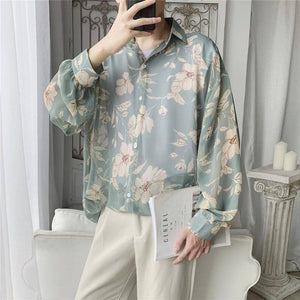 Autumn New Flower Shirt Men Fashion Printed Casual Shirt Men Wild Hawaiian Shirt Man Streetwear Loose Long-sleeved Shirts Male | Autumn, Casual, Fashion, Flower, Hawaiian, Longsleeved, Loose, Male, Man, Men, Men Shirt, New, Printed, Shirt, Shirts, Streetwear, Wild | akolzol