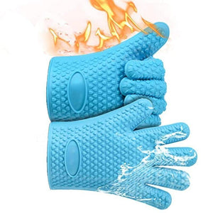 1PC Kitchen Oven 100% real Silicone Gloves Cooking Baking BBQ Glove Kitchen Accessories Household Heat Resistant mittens | akolzol
