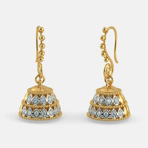 14K Yellow Gold 1 Carat Diamond Earrings for Women Bohemia Anillos De Bizuteria Kolczyki 14K Gold Orecchini Dainty Drop Earring | akolzol