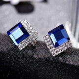 925 Silver Color Jewelry Diamond Earring Women Blue Square Diamond Blue Topaz Sapphire Garnet Earring 925 Gemstone Orecchini (Blue) | 925, Blue, Color, Diamond, Earring, Garnet, Gemstone, Jewelry, Orecchini, Sapphire, Silver, Square, Topaz, Women | akolzol