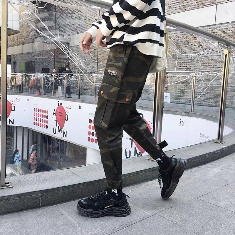 2020 Mens Cargo Pants Casual Multi-Pocket Tactical Baggy Trousers Male Joggers Pants Military Camouflage Harem Sweatpants S-3XL | akolzol