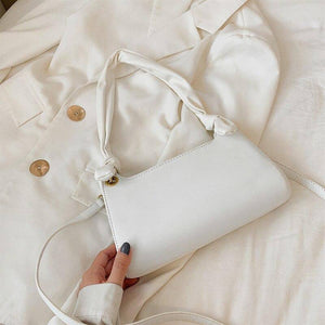 Bow Design PU Leather Small Armpit Bag For Women 2020 Fashion Elegant Solid Color Simple Shoulder Bags Female Trend Handbags | akolzol