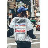 Japanese hip-hop jacket Harajuku pilots Street print Kodak jacket men's and women's overcoats brand clothing jacket | akolzol