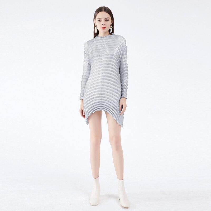 fall 2020 women clothing dresses sexy plus size dress temperament Korean style long sleeve dresses for women party | akolzol