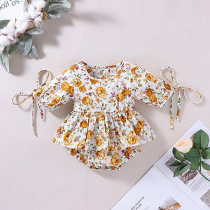 Melario Baby Girls Romper New Spring Newborn Clothes Floral Ruffles Toddler Jumpsuit Casual Infant Baby Outfit | akolzol