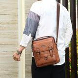 Vintage Brand New Men's Crossbody Shoulder Bag Multi-function Men Handbags Large Capacity Split Leather Bag For Man Travel | akolzol
