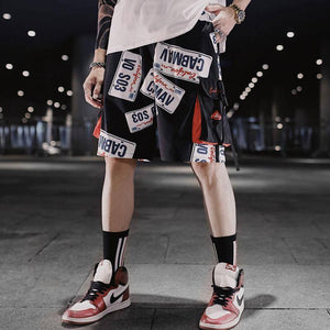 2020 Ins Korean Men Casual Shorts Pants Mens  Hip Hop Rap Male Trousers Street Boy Classics  Straight Breathing Loose Short Pant | akolzol