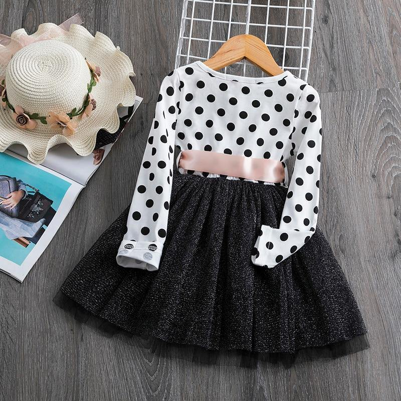 Girl Polka Dot Dress Girls Cotton Long Sleeve For Girl Teenager School Daily Wear Kids Casual Clothes  Autumn Vestido Infantil | akolzol