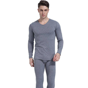 2020 Winter Male seamless thermal underwear set with a constant temperature of 37 degrees down heat cation qiuku Men's Pajamas L | akolzol