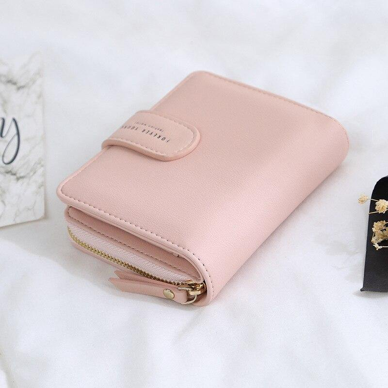Women's Wallet New Female Short Wallet Leisure Purses Short Multi-function Wallets Women Buckle Wallet Ladies Zipper Coin Purse | akolzol