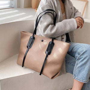 Large Capacity Pu Leather Shoulder Bags for Women Winter Casual Simple Design Tote Fashion Women's Big Handbags | akolzol