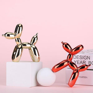 Nordic Resin Dog Ornaments Balloon Dog Crafts Sculpture Home Decoration Statue Kids Gifts Miniature Simulation Animal Figurines | akolzol