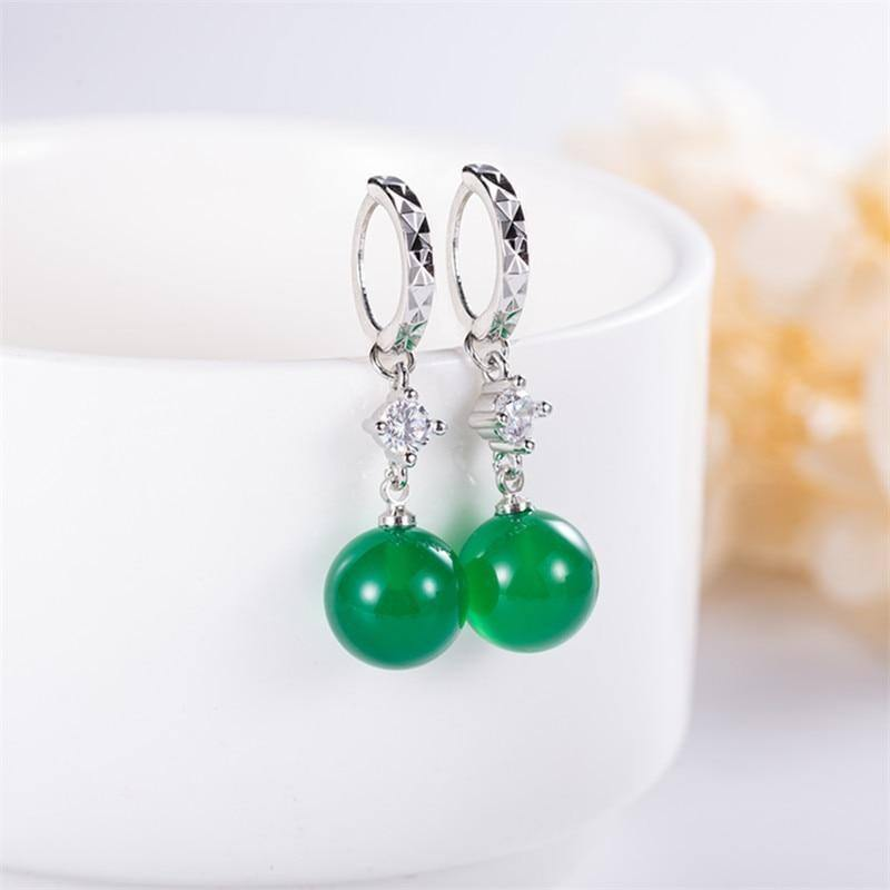Natural & Emerald Gemstone 925 Sterling Silver color Hypoallergenic Earrings for Women Silver 925 Jewelry Green Jade Earring | 925, color, Earring, Earrings, Emerald, for, Gemstone, Green, Hypoallergenic, Jade, Jewelry, Natural, Silver, Sterling, Women | akolzol