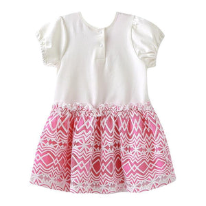 Baywell 1-5Years Toddler Baby Kid Girls Dress Short Sleeve Ruffles Cute Printed Party Dresses For Girls Summer Costumes Clothes | akolzol