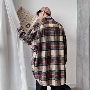 Winter Thickening Woolen Shirt Men Fashion Retro Casual Woolen Jacket Man Streetwear Loose Woolen Coat Men Long Sleeve Shirt | Casual, Coat, Fashion, Jacket, Long, Loose, Man, Men, Men Shirt, Retro, Shirt, Sleeve, Streetwear, Thickening, Winter, Woolen | akolzol