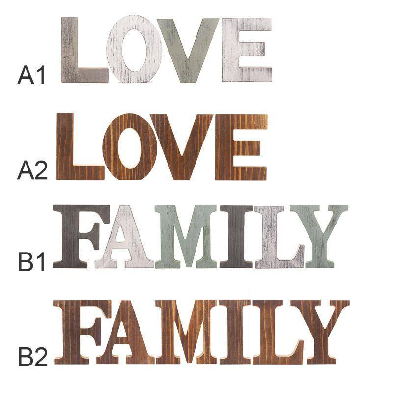 1Set Wooden Alphabet Ornaments Letters Freestanding Decorative LOVE/FAMILY Wedding Birthday Party Home Pendant Crafts Gift | Alphabet, Birthday, Crafts, Decorative, Freestanding, Gift, Home, Letters, LOVEFAMILY, Ornaments, Party, Pendant, Set, Wedding, Wooden | akolzol