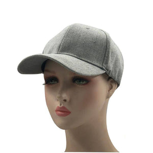 Simple Elastic adjustment grey wool snapback hip hop cap flat bill baseball cap for men and women dad cap free shipping (Black 56 - 60cm) | akolzol