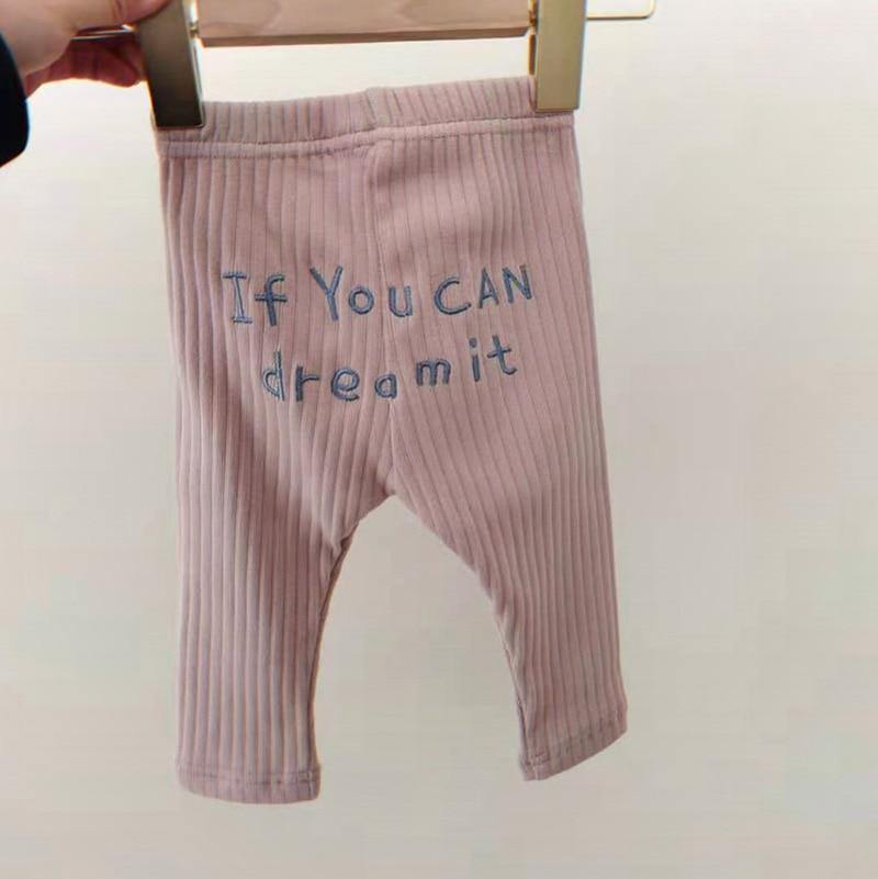 MILANCEL 2021 Baby Pants  Letter Embroidery Toddler Boys Trousers Striped Girls Leggings | akolzol
