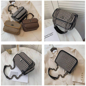 Fashion Plaid Design Chain Shoulder Bags for Women Winter Trend Branded Big Capacity Pu Leather Crossbody Handbags and Purses | and, Bags, Big, Branded, Capacity, Chain, Crossbody, Design, Fashion, for, Handbags, Leather, Plaid, Pu, Purses, Shoulder, Trend, Winter, Women | akolzol