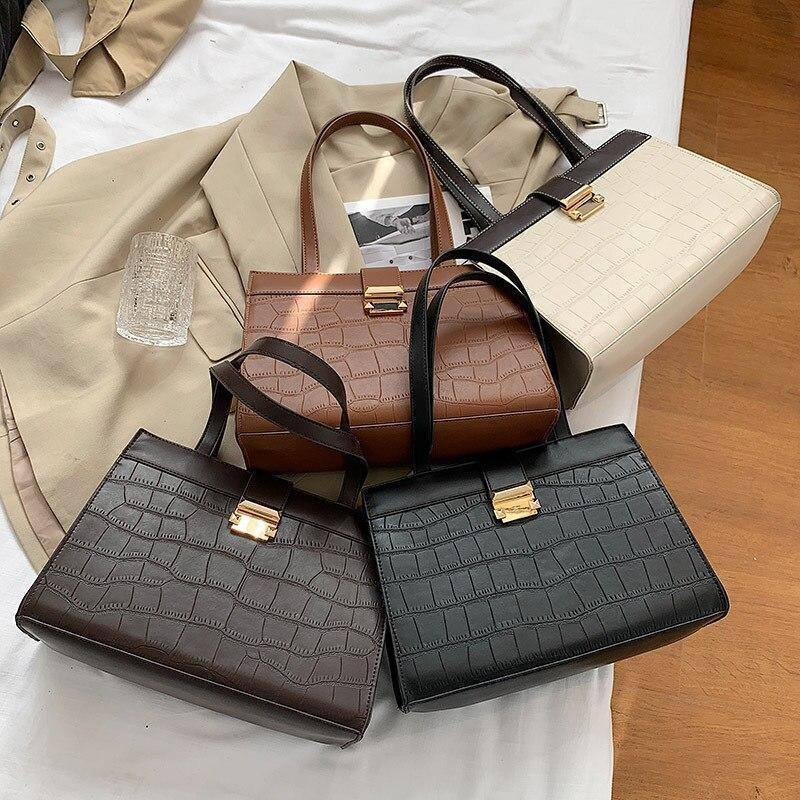 Texture Pu Leather Shoulder Bags for Women Winter Branded Crocodile Pattern Crossbody Bag Trend Female Handbags and Purses | and, Bag, Bags, Branded, Crocodile, Crossbody, Female, for, Handbags, Leather, Pattern, Pu, Purses, Shoulder, Texture, Trend, Winter, Women | akolzol