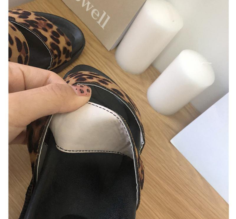 Women Beach Sandals Leopard Style Girls Summer Shoes Platform Slippers Slip On Ladies Fashion Slides Female Flat Sandals | akolzol