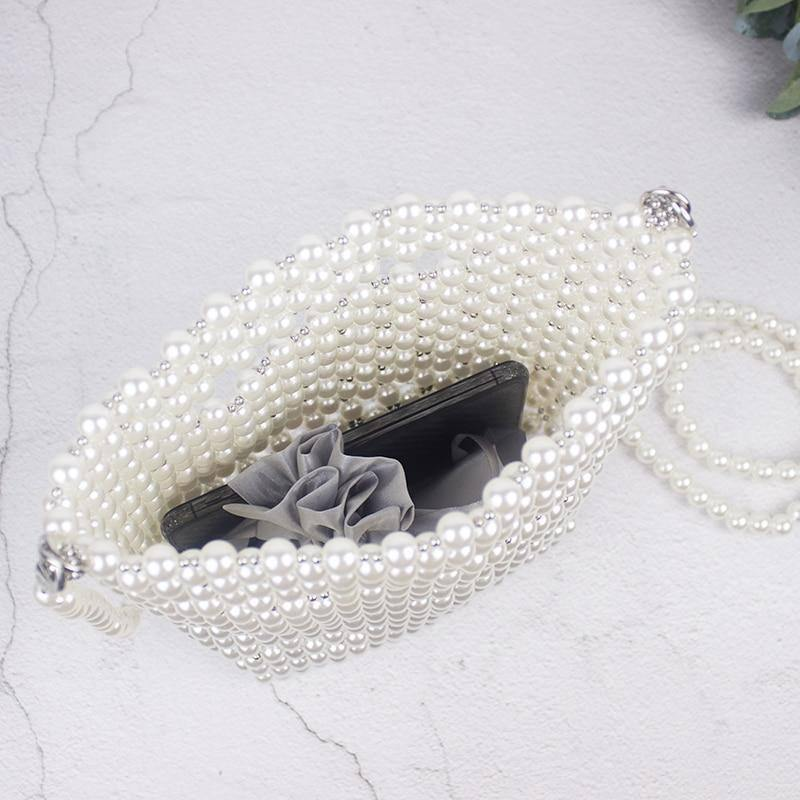 Brand Designer Handbags Handmade Beaded Retro Pearl Bag Woven Mini Female Diagonal Mobile Phone Bag New Evening Bag clutch bag | Bag, Beaded, Brand, clutch, Designer, Diagonal, Evening, Female, Handbags, Handmade, Mini, Mobile, New, Pearl, Phone, Retro, Woven | akolzol