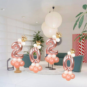13pcs/set Rose Gold Number Foil Balloon Kids Birthday Party Baby Shower Wedding Decoration Air Helium Balloons Globos | 13, Air, Baby, Balloon, Balloons, Birthday, Decoration, Foil, Globos, Gold, Helium, Kids, Number, Party, pcsset, Rose, Shower, Wedding | akolzol