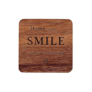 Square Round Coasters Wooden Drinking Cup Mat Heat Insulation Non-Slip Tableware Coffee Pad Dining Placemat Kitchen Accessories | akolzol