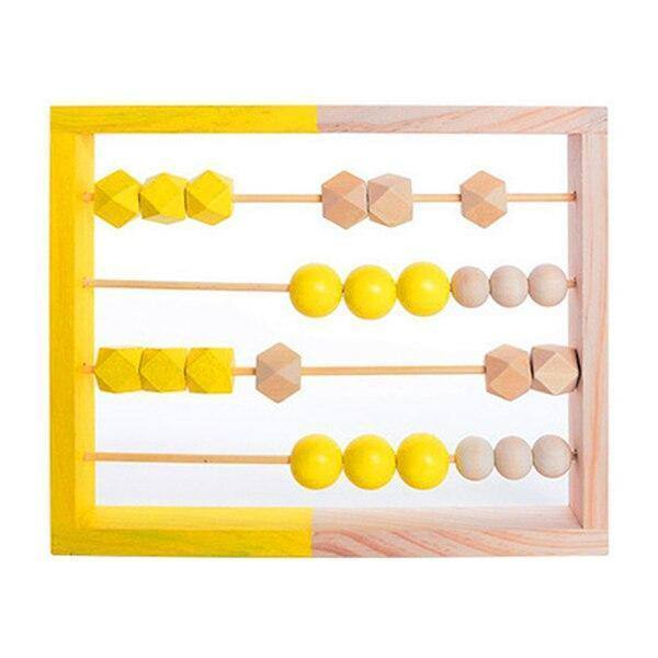 NEW Nordic Style Natural Wooden Abacus With Beads Craft Baby Early Learning Educational Toys For Baby Room Decor desk Ornaments | akolzol