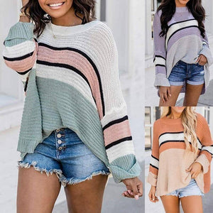 Autumn And Winter Woman Sweaters Clothes Stripe splicing Long Sleeve Winter Blouses Top Clothing For Fall Sweater Women's 2020 | 2020, And, Autumn, Blouses, Clothes, Clothing, Fall, For, Long, Sleeve, splicing, Stripe, Sweater, Sweaters, Top, Winter, Woman, Womens | akolzol