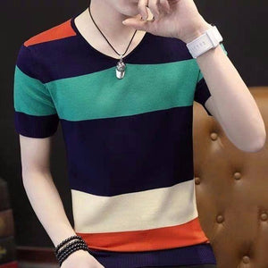Mens Sweaters Green Orange Slim Fit Leisure V-Neck Short Sleeve Sleeve Spring Autumn Men Sweater Fall Sweater | akolzol