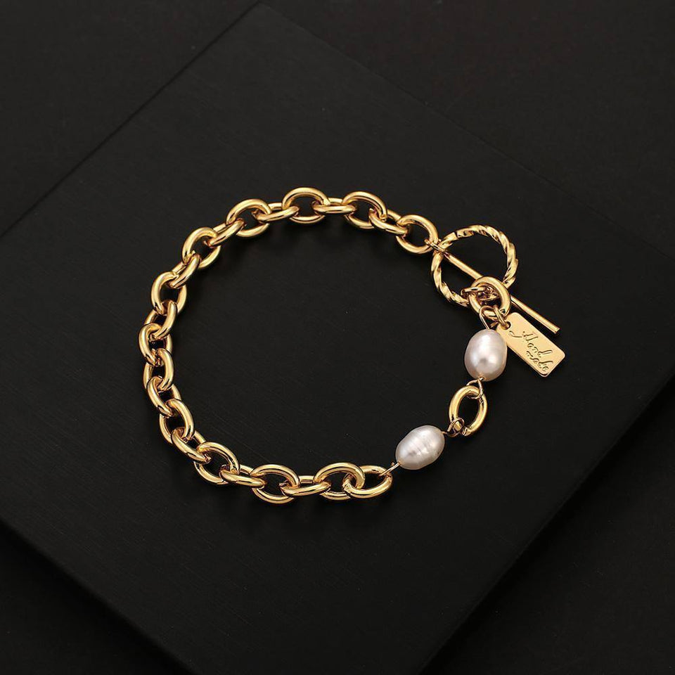 New Design Natural pearl Chain Bracelets For Women Fashion Personality Alloy Metal Bracelet Minimalist Jewelry | Alloy, Bracelet, Bracelets, Chain, Design, Fashion, Flashbuy, For, Jewelry, Metal, Minimalist, Natural, New, pearl, Personality, Women | akolzol