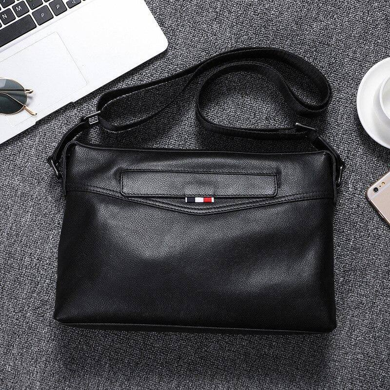 Luxury Fashion Genuine Leather Men's Crossbody Bags Natural Cowskin Shoulder Messenger Bags Designer Business Sling Bags for Man | akolzol