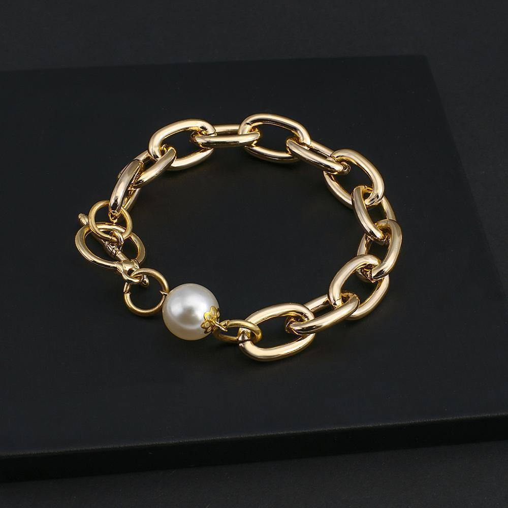 New Design Big Pearl Chain Bracelets For Women Personality Link Chain Fashion Jewelry 2020 | 2020, Big, Bracelets, Chain, Design, Fashion, Flashbuy, For, Jewelry, Link, New, Pearl, Personality, Women | akolzol