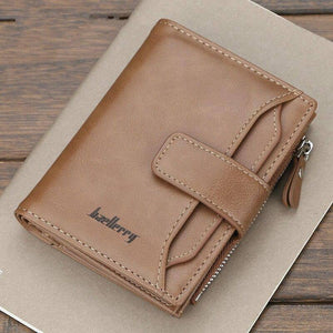 Brand Design Men Wallets Fashion Short Desigh Zipper Card Holder Men Leather Purse Solid Coin Pocket High Quality Male Purse | akolzol