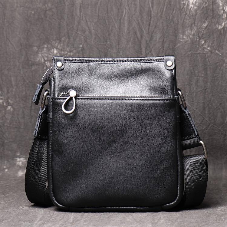Luxury Natural Skin Casual Men Shoulder Bag Genuine Leather Original Small Crossbody Classic Trend Fashion Messenger iPad Bags | akolzol