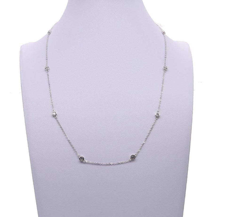 NEW Authentic 925 sterling silver cz bead cute women choker 40+5cm extend silver chain necklace | 405, 925, Authentic, bead, chain, choker, cm, cute, cz, extend, necklace, NEW, silver, sterling, women | akolzol