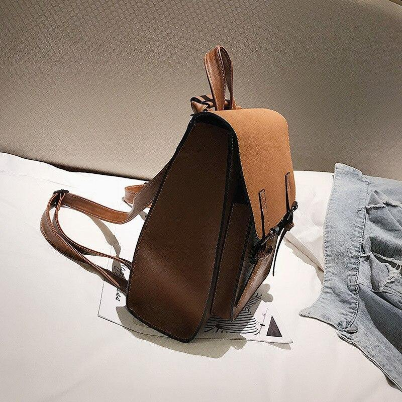 Fashion Women Backpack New Retro Casual Wild Large Capacity Pu Leather Backpacks Vintage School Bag For Teenage Girls Women Bags | akolzol