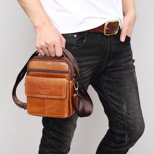 Natural Cowskin Brand Design Men's Crossbody Shoulder Bags Tote Fashion Business Man Messenger Bag Genuine Leather Bags | akolzol