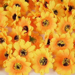 100pcs Mini Silk Sunflower Artificial Flower Head DIY Wreath Scrapbooking Accessories Wedding Party Home Decoration Fake Flower | 100, Accessories, Artificial, Decoration, DIY, Fake, Flower, Head, Home, Mini, Party, pcs, Scrapbooking, Silk, Sunflower, Wedding, Wreath | akolzol