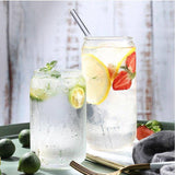 400/600ML Glass Mug Cola Can Shaped Creative Water Milk Juice Cup Cold Drink Cup Cafe Beverage Dessert Cup Shake Glass | akolzol
