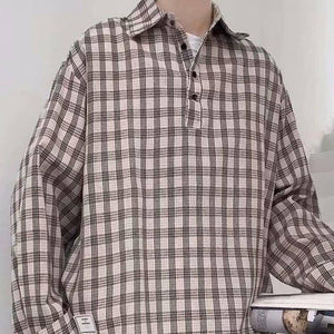 Spring Plaid Shirt Men's Fashion Retro Casual Shirt Men Streetwear Wild Loose Long Sleeve Shirts Mens Pullover Shirt M-2XL | Casual, Fashion, Long, Loose, man fashion, Men, Men Shirt, Mens, Plaid, Pullover, Retro, Shirt, Shirts, Sleeve, Spring, Streetwear, Wild, XL | akolzol