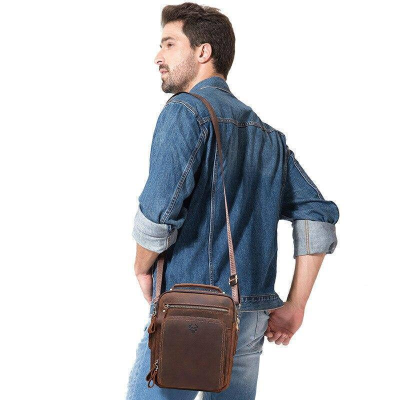 100% Crazy Horse Leather men shoulder bag crossbody bags for men high quality bolsas fashion Genuine Leather messenger Ipad bag | 100%, bag, bags, bolsas, Crazy, crossbody, fashion, for, Genuine, high, Horse, Ipad, Leather, men, messenger, quality, shoulder | akolzol