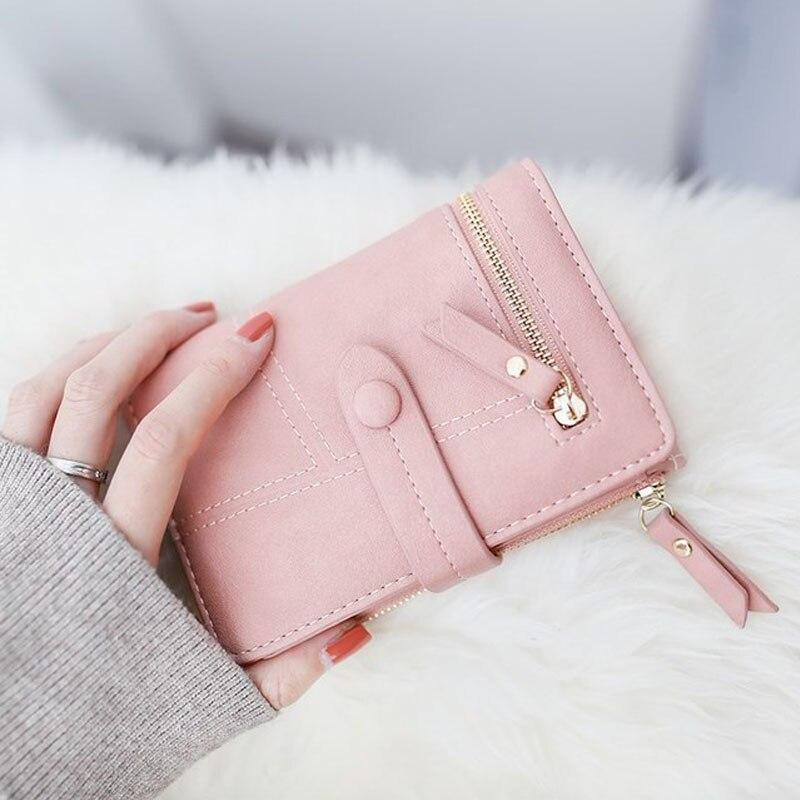 New Arrival Women Wallet Female High Quality Zipper Purse Short Fashion Women's Wallets Ladies Clutch Bag Card Leather Purses | akolzol